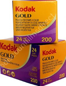 Kodak Gold 200 iso 35mm 24 exposure Colour Print Camera Film 2 PACK SPECIAL